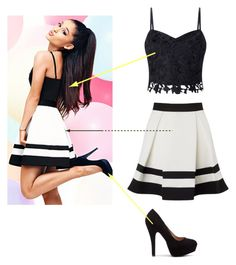 """Ariana Grande ||"" by nazar-erginyavuz on Polyvore featuring moda ve Lipsy"