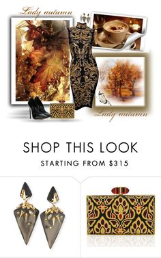 """""""Lady autumn"""" by sarahguo ❤ liked on Polyvore featuring Emilio Pucci, Alexis Bittar, Judith Leiber and Casadei"""