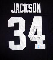 Bo Jackson Autographed Oakland Raiders Black Mitchell & Ness Jersey PSA/DNA