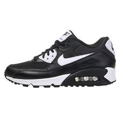 Nike Air Max 90 Essential Womens 616730-023 Black White Running Shoes Size 8
