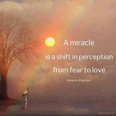 a course in miracles - Marianne Williamson-a miracle is a shift in perception from fear to love Beautiful Words, Beautiful Soul, Beautiful Things, Marianne Williamson Quote, Miracle Quotes, A Miracle, Quotes On Miracles, A Course In Miracles, Life Quotes Love
