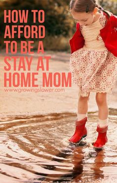 How to Afford to Be a Stay at Home Mom - Whether you have a new baby on the way or you've been wondering Can I afford to stay home with my kids? for years, this article takes a fresh look at how to afford being a stay at home mom.