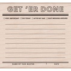 Get 'Er Done - Mounted Rubber Stamp  (K6125) by MemoryMakinShoppe on Etsy