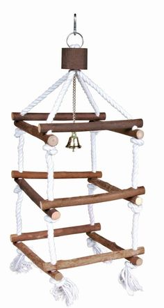 Amazon.com : Trixie Natural Living Wooden Bird Tower with Ropes for Pet Parakeets and Cockatiels : Pet Supplies