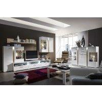Wohnwand Mit Sideboard Weiss/ Laricio Pinie Touchwood Woody 93 00355 |  Wohnzimmer | Pinterest | Woody