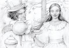 Alice and the Mad Hatter by Marie Petty.