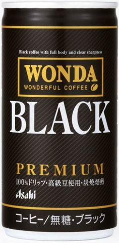 Asahi WONDA BLACK premium   can design Coffee Label, Black Coffee, Beverage, Boss, Packaging, Drink, Canning, Business, Design