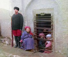 Muslim inmates in a prison near Samarkand