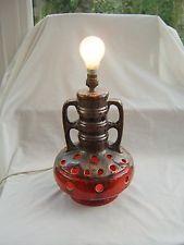 RETRO VINTAGE WEST GERMAN LAVA FLOOR LAMP Twin bulb - see photos