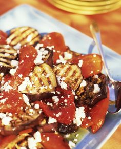 A delicious alternative to the heavier Eggplant Parmesan, this recipe for Eggplant with Tomatoes and Feta makes a wonderful vegetarian entree or side dish.