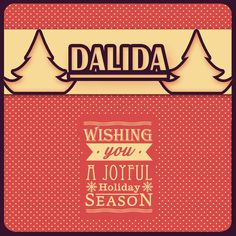 Dalida - Wishing You A Wonderful Holiday Season