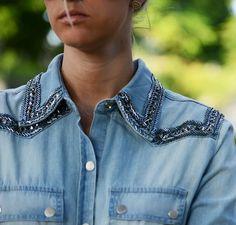 Camisa jeans bordada BoBo
