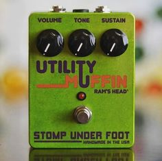 Repost @stompunderfoot:  Utility Muffin Ram's Head based on Frank Zappa's late 70's Modified Big Muff  #zappa #utilitymuffin #stompunderfoot #bigmuff
