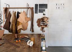 Leather Workshop Storage 17 Ideas For 2019 Diy Toy Storage, Paper Storage, Workshop Studio, Creative Workshop, Studio Color, Rustic Shed, Leather Store, Leather Workshop, Workshop Storage