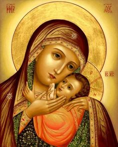 Madonna Enthroned Religious Art by Christian Art Divine Mother, Blessed Mother Mary, Blessed Virgin Mary, Religious Images, Religious Icons, Religious Art, Images Of Mary, Queen Of Heaven, Mama Mary