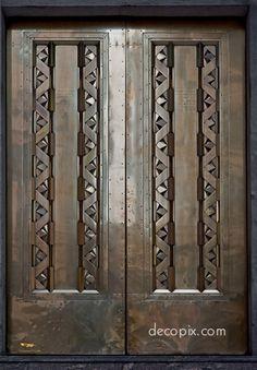 Metal doors, Sitico Bldg (current name), Shanghai