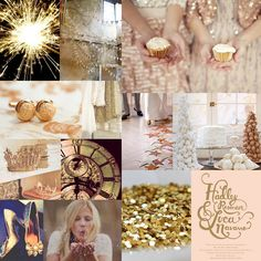 gold and pink....love this for a wedding