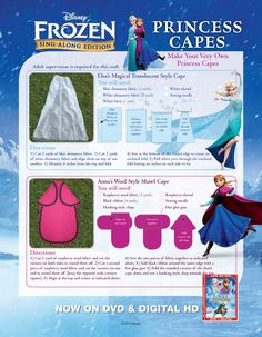Frozen Princess Capes.