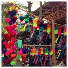 Handmade Big and Bold Pom Poms! Sayulita, Mexico