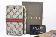 Gucci Ledertasche mit goldem Logo für iPhone 5/5S, Samsung Note2/3, Samsung Galaxy S3/S4/S5 - spitzekarte.com
