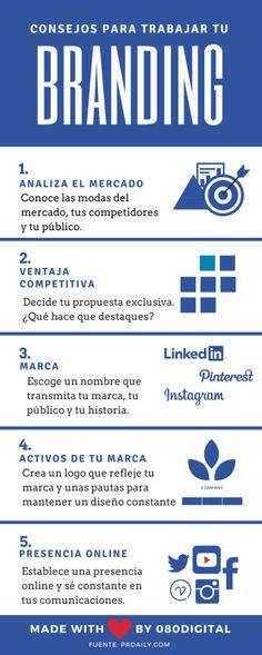 ¿Cómo debes trabajar tu #Branding? 5 Consejos para desarrollar tu #MarcaPersonal en #Internet #MarketingDigital
