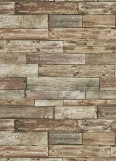 I love wallpaper rustic wooden plank wallpaper natural white wood wallpaper in brown design by bd wall altavistaventures Image collections
