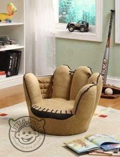 LITTLE CATCHERS MITT KIDS CHAIR sport theme / games chair armchair childrens playroom:Amazon.co.uk:Kitchen & Home