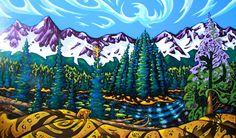 Spirit Waters of Island Lake ~ K Neil Swanson at Canada House Gallery Banff Canada House, Mountain Paintings, Artwork Display, Inspirational Artwork, Canadian Artists, Fashion Art, Folk Art, Presents, Island