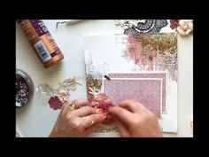 (2) mixed media album page - tutorial by noomish - YouTube