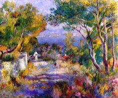 "Pierre Auguste Renoir (1841-1919)  "" L'Estaque."""