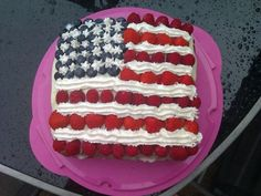 Independence Day Patriotic Cake