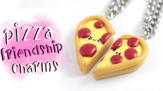 Pizza DIY for Pizza friends ;) In this video I show you how to create a cute pizza friendship charms for you and your bestie! ▽~Tips and ideas~▽ -Try out any...