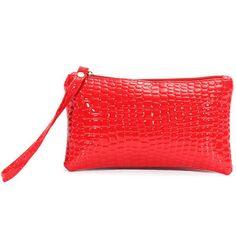 Women Crocodile Leather Clutch Wristlet Wallet - Gchoic.com