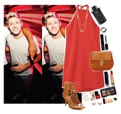 """Party at the Disco with Niall"" by miriamofficial5 ❤ liked on Polyvore featuring MANGO, Chloé, Report, Chanel, Givenchy, NARS Cosmetics, Gucci, NYX, Clinique and FOSSIL"