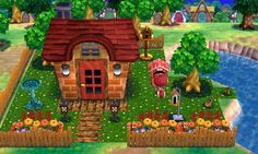 """Animal Crossing: Happy Home Designer- Poppy- """"A pet-friendly paradise"""".  Visit in game: 0995-7759-937.   #AnimalCrossing #ACHappyHomeDesigner #ACHHD"""