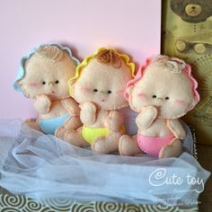 Cute toy: Малыши из фетра.