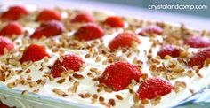 Easy Strawberry Refrigerator Cake