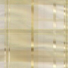 Envoy Plaid Curtain Panel In Cream Ivory Color