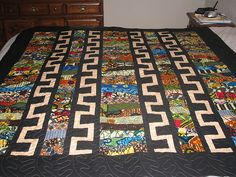 African Quilt Pieced by Val R. by maripenquilts, via Flickr