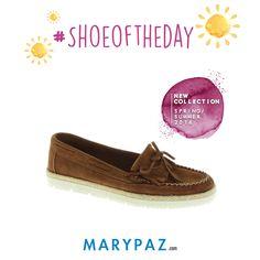 Hoy viernes os mostramos nuestro #SHOEOFTHEDAY :)  Nuestro mocasín de piel que se adapta a tu día a día ¡ Perfecta las 24H del día !  ¡ Disponible ya en tu tienda MARYPAZ más cercana y en marypaz.com !   #shoeoftheday #shoesobssession #bestfashonablefriends #newcollection    Compra este MOCASÍN DE PIEL aquí►  http://www.marypaz.com/tienda-online/catalog/product/view/id/55216/s/mocasin-de-piel-con-flecos/category/426/?sku=73737-35