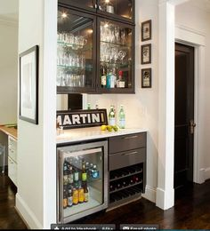 beverage fridge and wine storage
