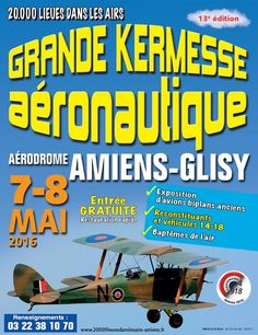 #Amiens-Glisy 2day & Sunday largest air show north of #Paris including WWI planes & vehicles http://htl.li/ZU6S3000oJE