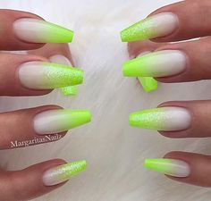 Want some ideas for wedding nail polish designs? This article is a collection of our favorite nail polish designs for your special day. Neon Nail Designs, Short Nail Designs, Nail Polish Designs, Classy Nails, Stylish Nails, Perfect Nails, Gorgeous Nails, Pretty Nails, Lime Green Nails