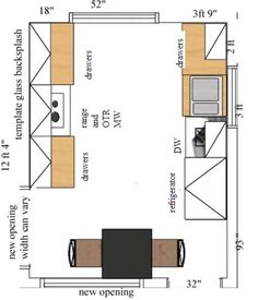 Galley Kitchen Design Layout u shaped kitchen layout ideas | kitchen design ideas | pinterest