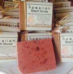 HAWAIIAN BEACH HOUSE Coconut Milk Sea Salt Soap by ZellaJoSoapCo