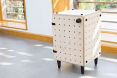 I have a soft spot for pegboards and anything that resembles them, so this furniture line fell right into my thumbs up list. The Crisscross system, designed by UK-based designer Sam Wrigley, is a r. Furniture Box, Modular Furniture, Modular Storage, Storage Boxes, Ikea Bed Frames, Furniture Collection, House Design, Vinyls, Furnitures