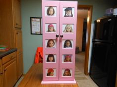 This Is, Believe It Or Not, A Small CD Storage Cabinet, Repurposed Into An American  Girl Doll Closet.