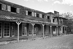 Rugged old abandoned wild west town in central Arizona, USA
