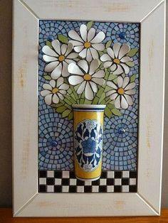 interesting...3D Daisy Mosaic!