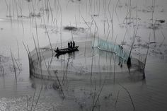 Fishing nets in the area of Dhaka, Bangladesh. Source: YannArthusBertrand.org